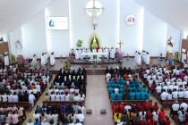 Đền Thánh Đức Mẹ Bãi Dâu:  Đức cha Emmanuel chủ sự ngày hành hương thứ Bảy đầu tháng