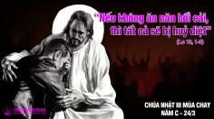 CÁC BÀI SUY NIỆM LỜI CHÚA  CHÚA NHẬT III MÙA CHAY- C