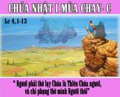 CÁC BÀI SUY NIỆM LỜI CHÚA  CHÚA NHẬT I MÙA CHAY- C
