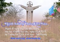 THÔNG BÁO: Thánh lễ thứ Sáu đầu tháng tại Trung tâm Hành hương Chúa Kitô Vua - Tao Phùng