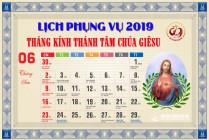 Lịch Phụng vụ từ ngày 23.06.2019 đến 30.06.2019