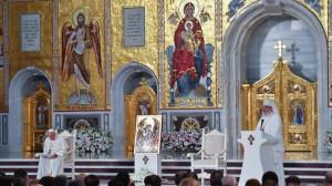 ĐTC và các vị lãnh đạo Chính Thống Rumani cầu nguyện chung