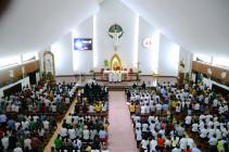 Đền Thánh Đức Mẹ Bãi Dâu: Đức cha Emmanuel chủ sự ngày hành hương thứ Bảy đầu tháng 06.2019