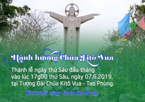 THÔNG BÁO: Thánh lễ thứ Sáu đầu tháng tại Trung tâm Chúa Kitô Vua – Tao Phùng
