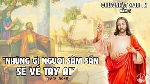 CÁC BÀI SUY NIỆM LỜI CHÚA CHÚA NHẬT XVIII THƯỜNG NIÊN – NĂM C