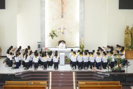 Gx. Láng Cát: Thánh Lễ tuyên hứa Bao Đồng và Tổng kết năm học giáo lý 2018 - 2019