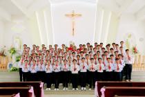 Tin ảnh: Gx. Long Kiên: Thánh lễ ban Bí tích Thêm Sức cho 75 em thiếu nhi