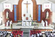 Gx. Hòa Hội: Thánh lễ khai mạc ngày Chầu Thánh thể thay Giáo phận 2019