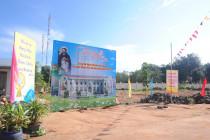 Gx. Hòa Hưng: Làm phép viên đá xây dựng nhà mục vụ và công bố thành lập giáo xứ