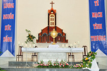 Gx. Bông Trang: Chầu Thánh Thể thay Giáo phận 2019