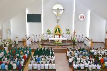 Đền Thánh Đức Mẹ Bãi Dâu: Cử hành phụng vụ đầu tháng 10.2019- Tôn kính Mẹ Maria