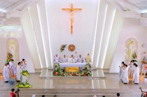 Gx. Long Kiên: Tân Linh mục Đaminh Hoàng Phúc dâng lễ tạ ơn