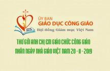 Ủy ban Giáo dục Công Giáo: Thư Chúc Mừng Nhân Ngày Nhà Giáo Việt Nam