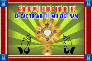 Cầu nguyện trước Thánh Thể- Ngày 17.11.2019 – Lễ Các Thánh Tử Đạo Việt Nam – Lc 9,23-26