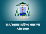 THƯ ĐỊNH HƯỚNG MỤC VỤ NĂM 2020