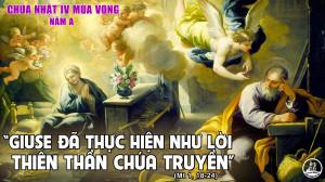 CÁC BÀI SUY NIỆM LỜI CHÚA CHÚA NHẬT IV MÙA VỌNG – NĂM A