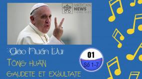 Giáo huấn vui - Kỳ 1: số 1-7 Gaudete et Exsultate