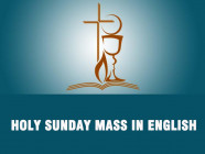 Announcement of Holy Sunday Mass in English