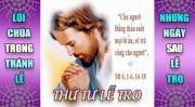 BẢN VĂN BÀI ĐỌC TRONG THÁNH LỄ THỨ TƯ LỄ TRO VÀ NHỮNG NGÀY SAU LỄ TRO