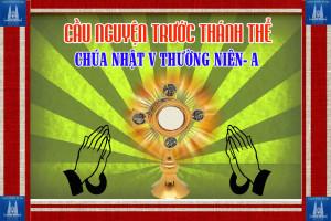 Cầu nguyện trước Thánh Thể- Ngày 09.02.2020 – Chúa nhật V Thường niên – Mt 5,13-16