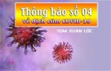 TGM Xuân Lộc: Thông báo số 04 về dịch cúm COVID-19