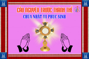 Cầu nguyện trước Thánh Thể- Ngày 26.04.2020 – Chúa nhật III Phục sinh – Lc 24,13-35