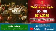 Thánh lễ trực tuyến Thứ Ba Tuần Thánh - 5g00 - 07.4.2020