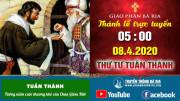 Thánh lễ trực tuyến Thứ Tư Tuần Thánh - 05g00 - 08.4.2020