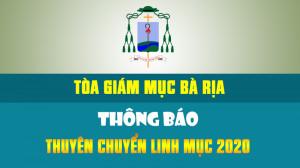 GP. BÀ RỊA: Lịch thuyên chuyển linh mục - 2020