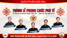 THÔNG BÁO: Thánh lễ phong chức phó tế - 2020