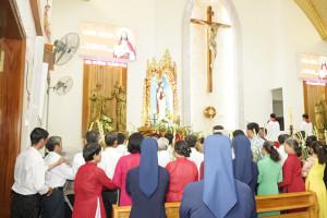 Tin Ảnh: Gx. Láng Cát: Mừng lễ trọng kính Thánh Tâm Chúa Giêsu