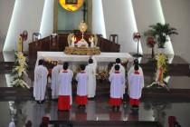 Tin Ảnh: Gx. Vinh Trung: Chầu Thánh Thể thay Giáo phận- Ngày 21.06.2020