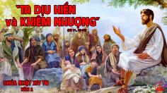 CÁC BÀI SUY NIỆM LỜI CHÚA CHÚA NHẬT XIV THƯỜNG NIÊN- A
