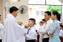 Gx. Hải Lâm: 164 em thiếu nhi Rước Lễ lần đầu