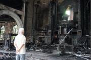 Tượng Santo Niño ở Philippines bị một đám cháy làm hư hại