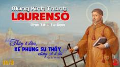 10.08.2020 – Thứ Hai Tuần XIX Thường niên - Thánh Laurensô, phó tế, tử đạo