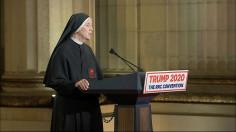 Diễn từ thật cảm kích của một nữ tu đối với chính nghĩa phò sinh của Tổng thống Trump