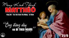 21.09.2020 – Thứ Hai Tuần XXV Thường niên - Thánh Matthêô tông đồ, tác giả sách Tin mừng