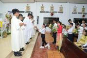 Tin Ảnh: Gx. Long Tân: Thánh lễ ban Bí tích Thánh Thể lần đầu- Ngày 26.9.2020