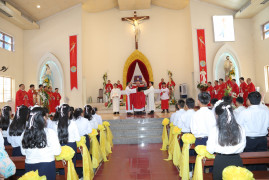 Tin Ảnh: Gx. Thủ Lựu: Đức Cha Emmanuel ban Bí tích Thêm sức cho 38 thiếu nhi