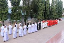 Gx. Hòa Thuận: Chầu Thánh Thể thay Giáo phận
