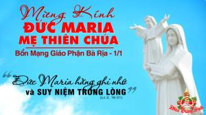 01.01.2021 – Ngày VIII trong Tuần Bát nhật Giáng sinh - Thánh Maria, Mẹ Thiên Chúa
