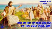 CÁC BÀI SUY NIỆM LỜI CHÚA CHÚA NHẬT III THƯỜNG NIÊN- B