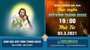 NỘI DUNG GIỜ KINH KÍNH THÁNH GIUSE - 19 giờ 00 Thứ Tư – Ngày 03.3.2021