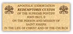 Tông huấn Đấng gìn giữ Chúa Cứu Thế - Redemptoris Custos
