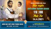 Nội dung giờ kinh kính Thánh Giuse – 19 giờ 00 Thứ Tư – Ngày 14.4.2021