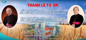 Giáo phận Hà Tĩnh trực tiếp Thánh lễ chuyển giao sứ vụ giám mục 29.04.2021