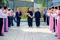 Gx. Bình Ba: Cha Phêrô Huỳnh Tấn Phát đến phục vụ cộng đoàn mới- Ngày 19.5.2021