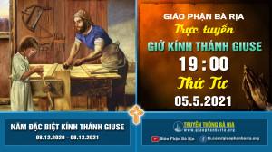 Nội dung giờ kinh kính Thánh Giuse – 19 giờ 00 Thứ Tư – Ngày 05.5.2021