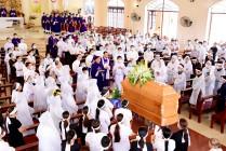 Gx. Hải Lâm: Thánh lễ an táng Ông cố Đaminh Vũ Viết Giá